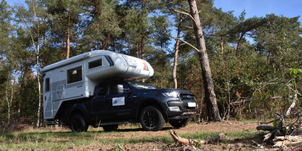 Special camper in bosrijke omgeving