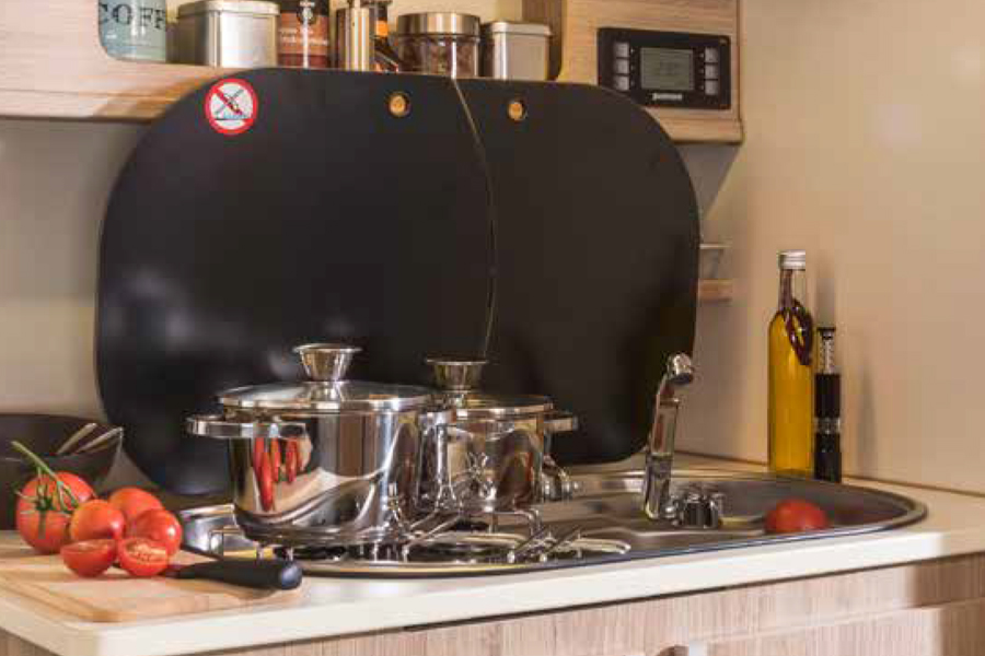 keuken in pickup camper