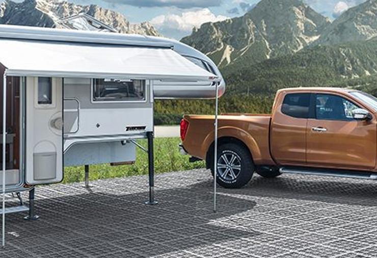 Luxe afzetunit voor 4x4 camper met luifel