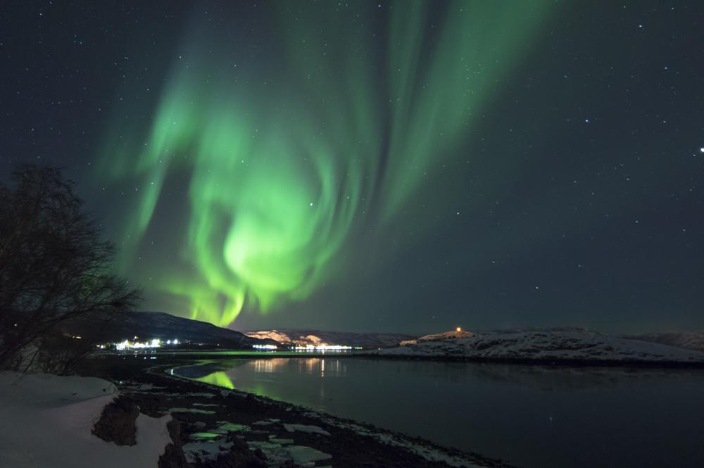 Het noorderlicht in Alta Noorwegen