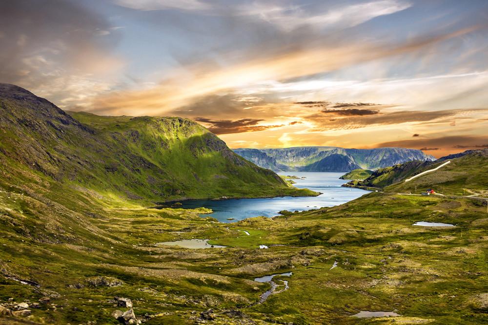 Uitzicht van de Noordkaap in Noorwegen