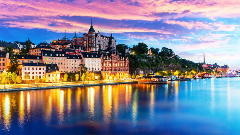 Mooi uitzicht op Stockholm aan de waterkant