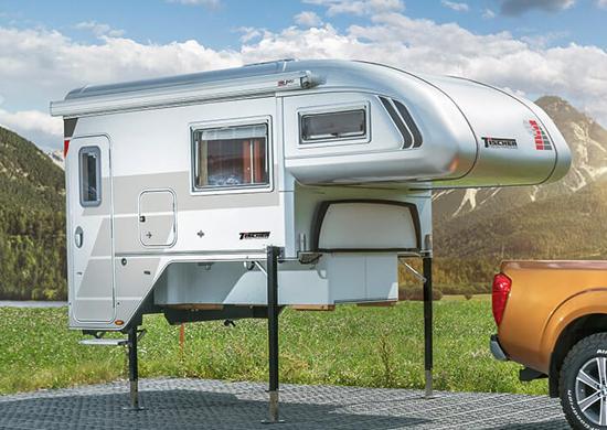 Luxe camper afzetunit op poten