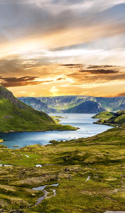 Prachtige natuur en landschap in Scandinavië