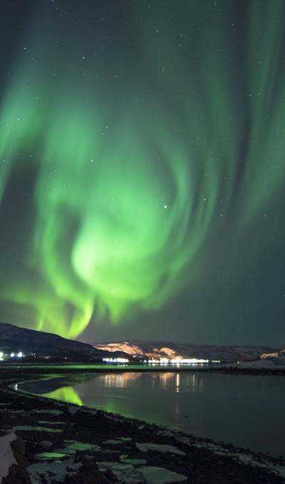 Het noorderlicht in Scandinavië