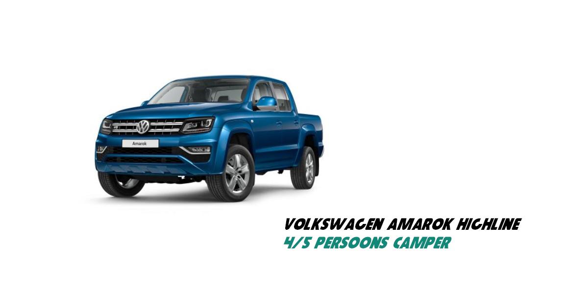 4 persoons 4x4 pick-up auto Volkswagen Amarok