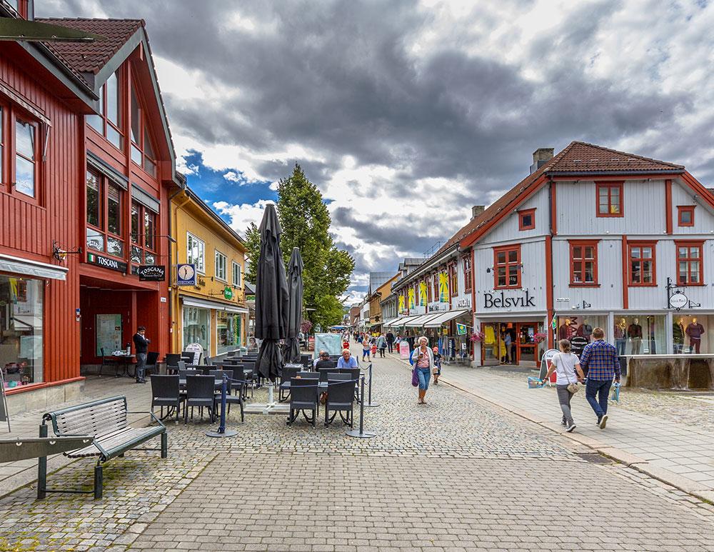 Stadje Lillehammer in Noorwegen