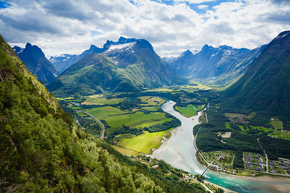 Andalsnes in Noorwegen