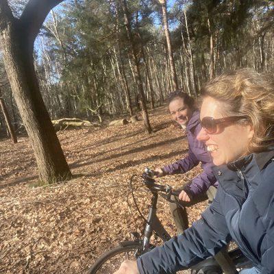 fietsen in de bossen van brabant
